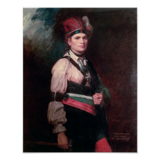 Joseph Brant, Chief of the Mohawks, 1742-1807 Poster