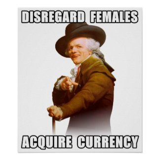 Joseph Ducreux Acquire Currency Poster