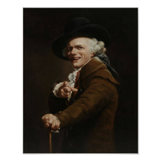 Joseph Ducreux - Guise Of A Mocker Painting Poster
