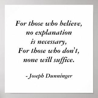 Joseph Dunninger Quote Poster by SRF