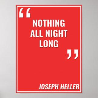 "Joseph Heller – ""ALL NIGHT LONG"" Poster"