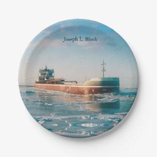 Joseph L. Block paper plate