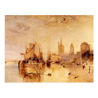 Joseph Mallord Turner - Arrival of boat Cologne Postcard