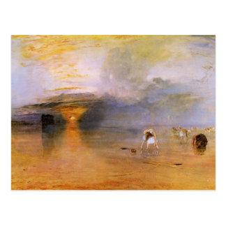 Joseph Mallord Turner - Calais - Collecting bait Postcard