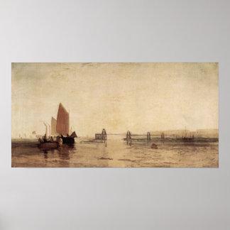 Joseph Mallord Turner - Chain pier, Brighton Poster