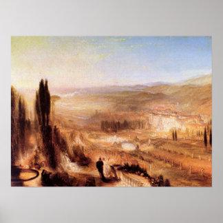 Joseph Mallord Turner - Cicero at his villa Poster