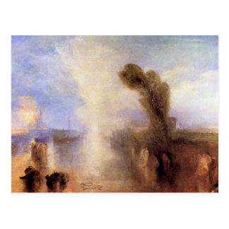 Joseph Mallord Turner - Girls bathing in moonlight Postcard