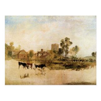 Joseph Mallord Turner - Goring Mill and church Postcard