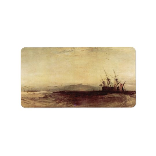 Joseph Mallord Turner - Ship aground Label