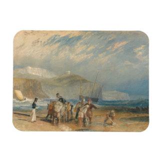 Joseph Mallord William Turner - Folkestone Harbour Rectangular Photo Magnet