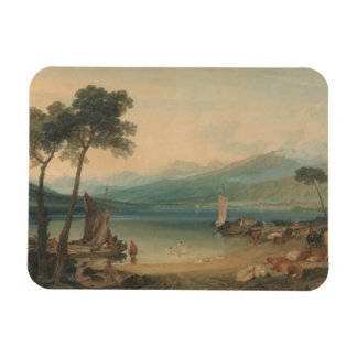 Joseph Mallord William Turner - Lake Geneva Rectangular Photo Magnet