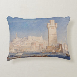 Joseph Mallord William Turner - Rhodes Decorative Pillow