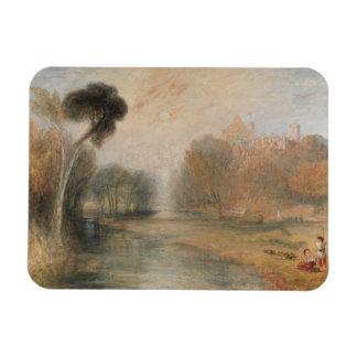 Joseph Mallord William Turner - Schloss Rosenau Rectangular Photo Magnet