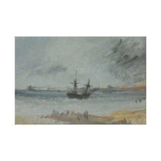 Joseph Mallord William Turner - Ship Aground Canvas Print