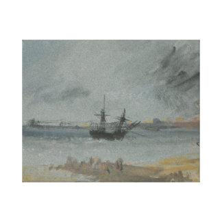 Joseph Mallord William Turner - Ship Aground Canvas Print