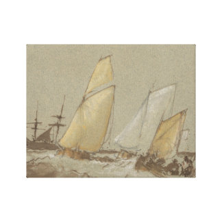 Joseph Mallord William Turner - Shipping Canvas Print