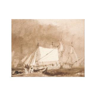 Joseph Mallord William Turner - Shipping Scene Canvas Print
