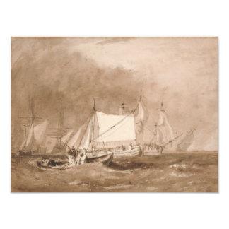 Joseph Mallord William Turner - Shipping Scene Photo Print