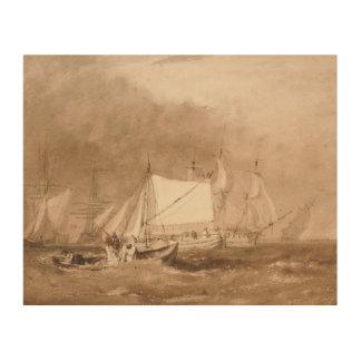 Joseph Mallord William Turner - Shipping Scene Wood Print