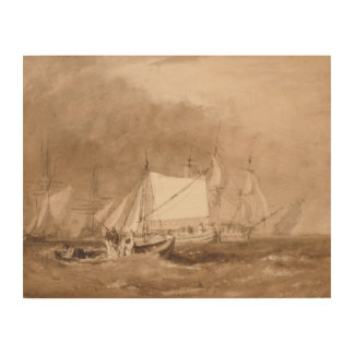 Joseph Mallord William Turner - Shipping Scene Wood Wall Decor