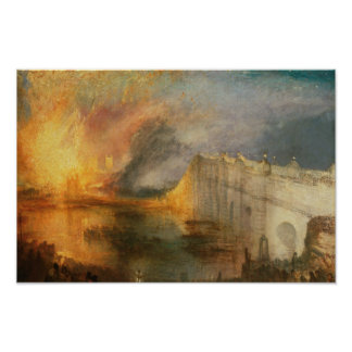 Joseph Mallord William Turner - The Burning of the Poster