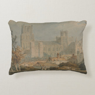 Joseph Mallord William Turner - View of Ely Decorative Pillow