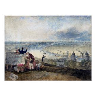Joseph Mallord William Turner View of London Poster
