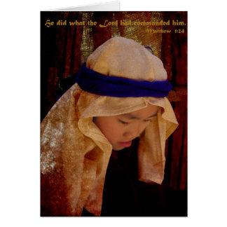 Joseph pense carte de vœux