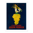Joseph Perrier Champagne Promotional Poster Postcard