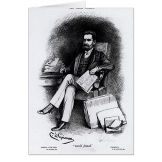 Joseph Pulitzer  from 'The Curio', 1887 Card