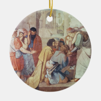Joseph recognised by his brothers ceramic ornament