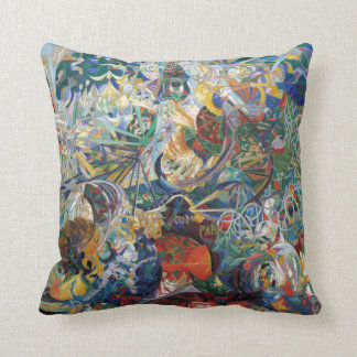 Joseph Stella - Battle of Lights, Coney Island Throw Pillow
