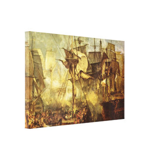 Joseph William Turner - Battle of Trafalgar Canvas Print
