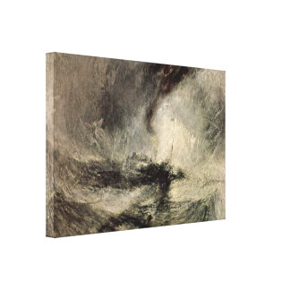 Joseph William Turner - Snow storm of the harbor Canvas Print