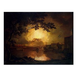Joseph Wright-Firework Display at Castel Angelo Postcard