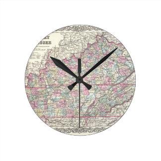 JosephHutchinsColtonMapKentuckyTennessee Clocks