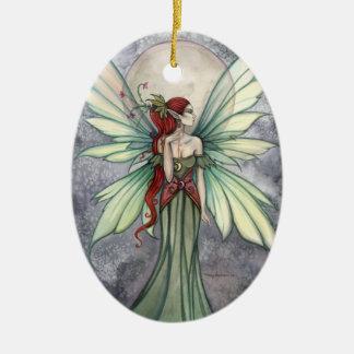 Josephina Lovely Green Fairy Art Ornament