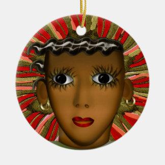 Josephine Baker in the 21st Century (Personalized) Round Ceramic Ornament