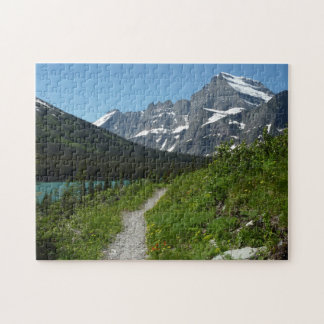 Josephine Lake Trail with Mount Guild at Glacier Jigsaw Puzzle