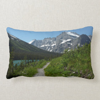 Josephine Lake Trail with Mount Guild at Glacier Lumbar Pillow