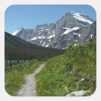 Josephine Lake Trail with Mount Guild at Glacier Square Sticker