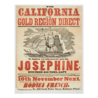 """Josephine"" to California Advertisement (1280A) Poster"