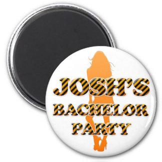 Josh's Bachelor Party Fridge Magnet