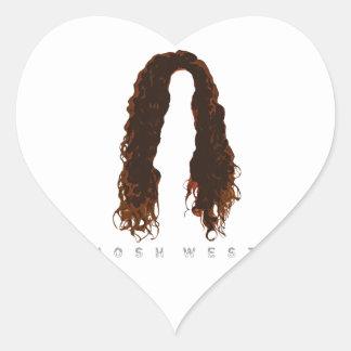 Josh's Hair Design Heart Sticker