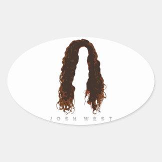 Josh's Hair Design Oval Sticker
