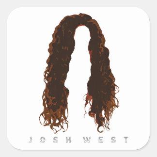 Josh's Hair Design Square Sticker