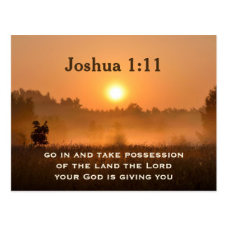Joshua 1:11 Scripture Take Possession of the Land Postcard
