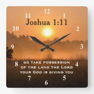 Joshua 1:11 Scripture Take Possession of the Land Wall Clock