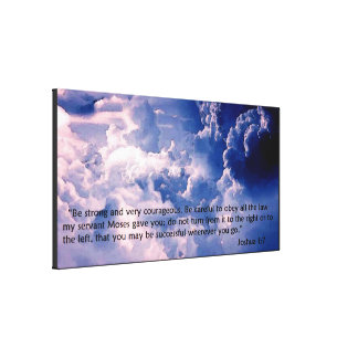 Joshua 1:7 canvas print