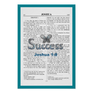 "Joshua 1:8, Poster, 19"" x 13"" Poster"
